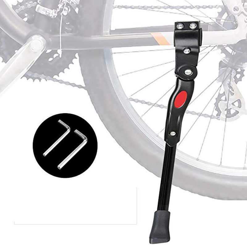 Bicycle Kick Stand Parking Racks Bike Support Side Stand Foot Brace MTB Road Mountain Bike Stand For 20/24 /28 Inch 2 X Wrench