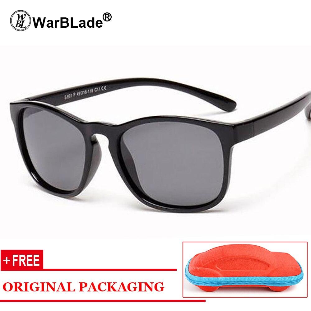 b73ef8cf583e3 2018 nueva polarizado Gafas de sol Kids flexible gafas cuadrado ...
