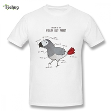 Anatomy Of An African Grey Parrot bird Top Tees Mens Fashion Man Funny Summer Pure Cotton Tee Shirt For Male
