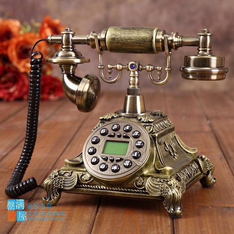 Модный объемный телефон высокого класса в европейском стиле с синим экраном, телефон с громкой связью, телефон, украшение дома, художествен