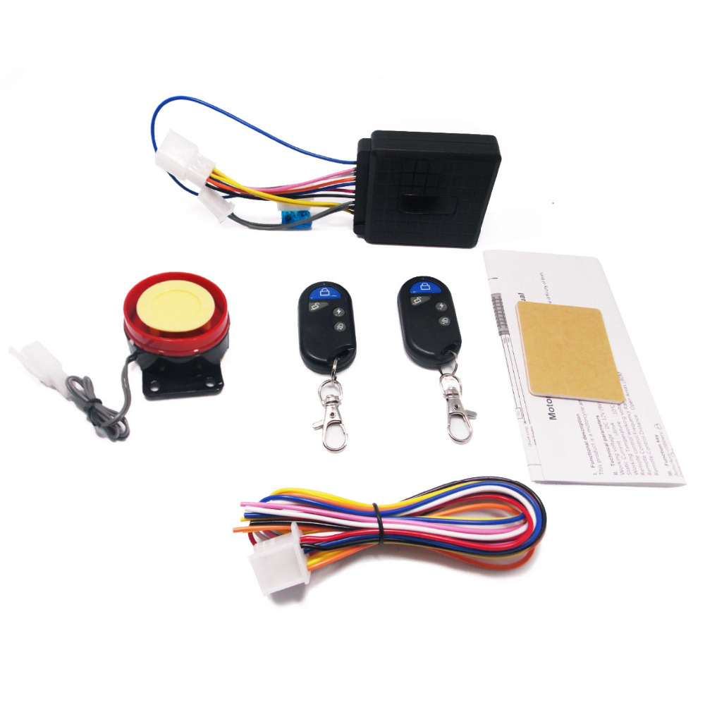 12v 1 5s Motorcycle Bike Alarm System Scooter Anti Theft
