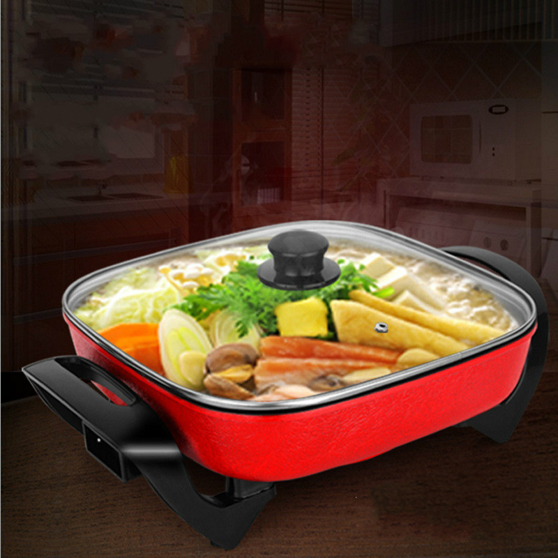 High Quality Electric Cooker Household Hot Pot Square Pot Four Square Pan Bedroom Multi Cooker Mini Electric Pot Student HotpotHigh Quality Electric Cooker Household Hot Pot Square Pot Four Square Pan Bedroom Multi Cooker Mini Electric Pot Student Hotpot