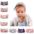 Free Shipping 10pcs/lot Baby Girl's Cotton Floral Printed Rabbit Style Headbands