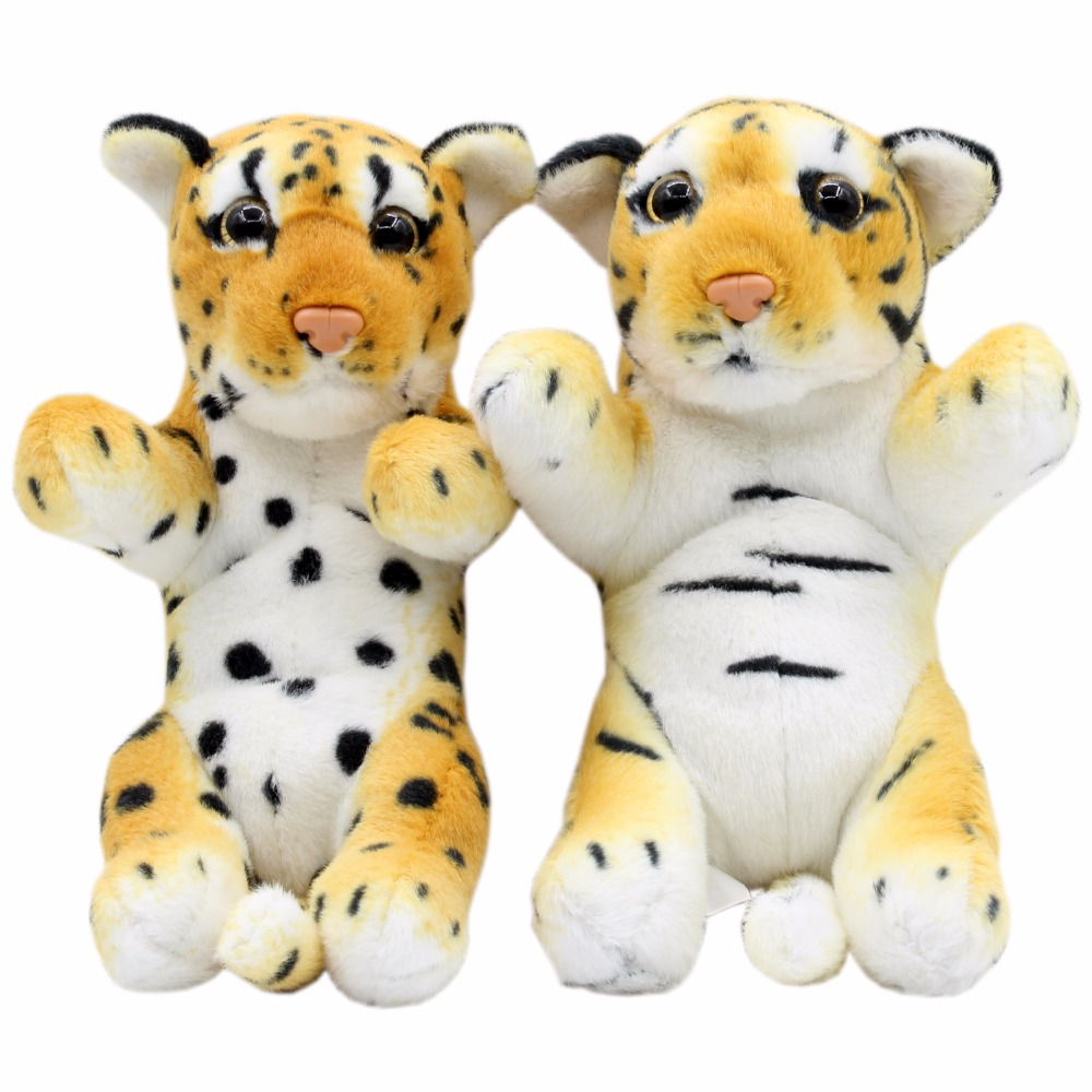 jesonn realistic stuffed animals tiger cheetah leopard plush toys