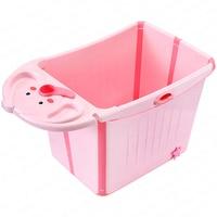 Baby Folding Tub Children's Bathing Bucket Large Household Can Sit Baby Tub Children Bathing Barrel Bathing Barrel