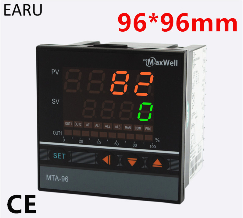 96*96mm Digital Temperature Controller Control AC85-265V Power Thermocouple Universial K J PT100 Input SSR Relay 4-20mA Output