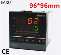96*96mm Digital Temperature Controller Control AC85 265V Power Thermocouple Universial K J PT100 Input SSR Relay 4 20mA Output