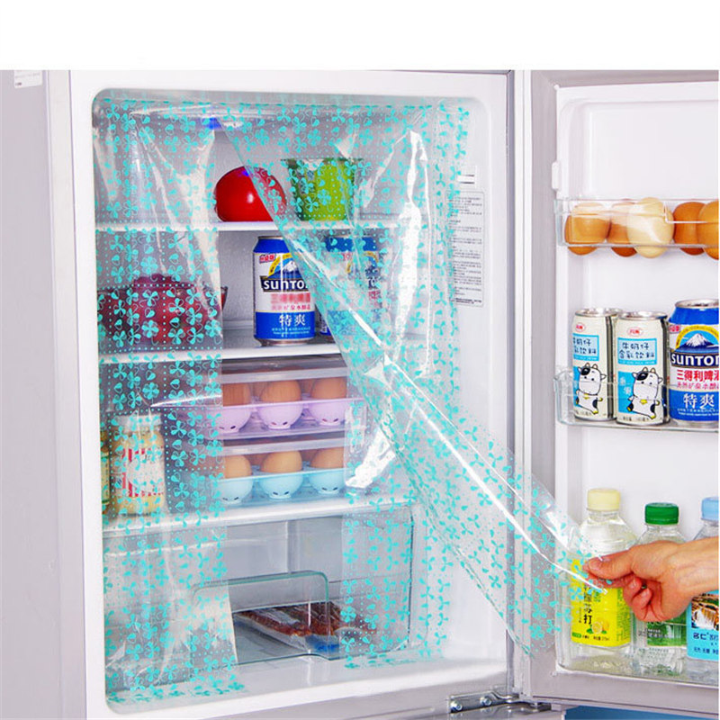 Image 4 - 2 pieces refrigerator tool Paste can DIY refrigerator energy saving preservation stickers Refrigerator curtain stickers QW118-in Fridge Magnets from Home & Garden