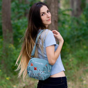 Image 5 - Çiçek prenses kadın Crossbody çanta yaz tuval nakış kızlar omuz çantaları kadın rahat çanta küçük çanta moda çanta