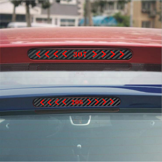 Carbon Fiber Brake Sticker Brake Lights stickers For Peugeot 206 ...