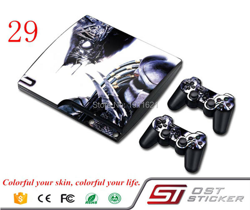 New Arrival Game Decal For Play Staion 3 Skin Stickers Console And 2 Pcs controller Stickers Cover for PS3 Slim