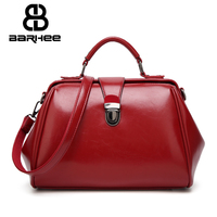 Women Messenger Bags High Quality Oil Leather Women S Shoulder Bag Doctor Crossbody Bags Famous Brand