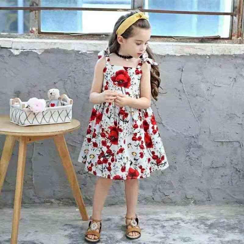 7698b2213342 Petticoat Dress Red White Flowers Rose Pattern - Wallpaperworld1st.com