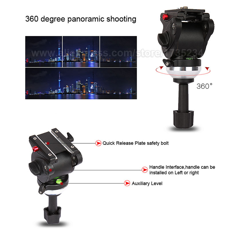JY0508B 185 cm profesionalni video kamera tronožac s 360 stupnjeva - Kamera i foto - Foto 4