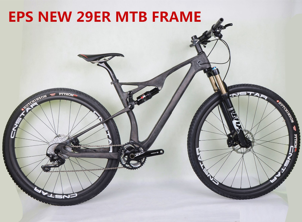 Mountain Bike Carbon Frame 29er EPSFull Suspension Frame Carbon Fiber Toray T800 BB92 System Thru Axle Tapered Bicycle Frame Di2 8x8ft vinyl blue sky tree sea island custom photography background for studio photo props photographic backdrops cloth 2 4x2 4m