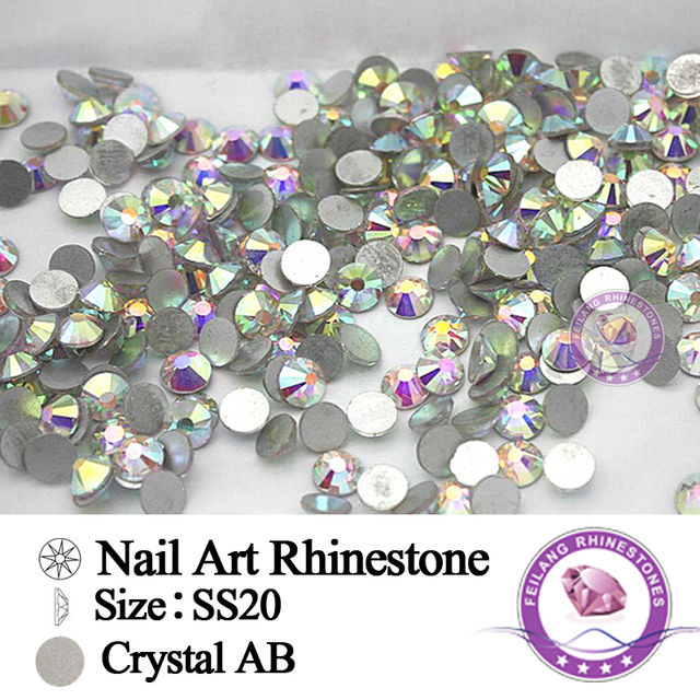 1440PCS Pack SS20 Crystal Clear AB Non Hotfix Flatback Rhinestones Nail  Rhinestones Nails Accessoires Nail 5e2b0af23e90