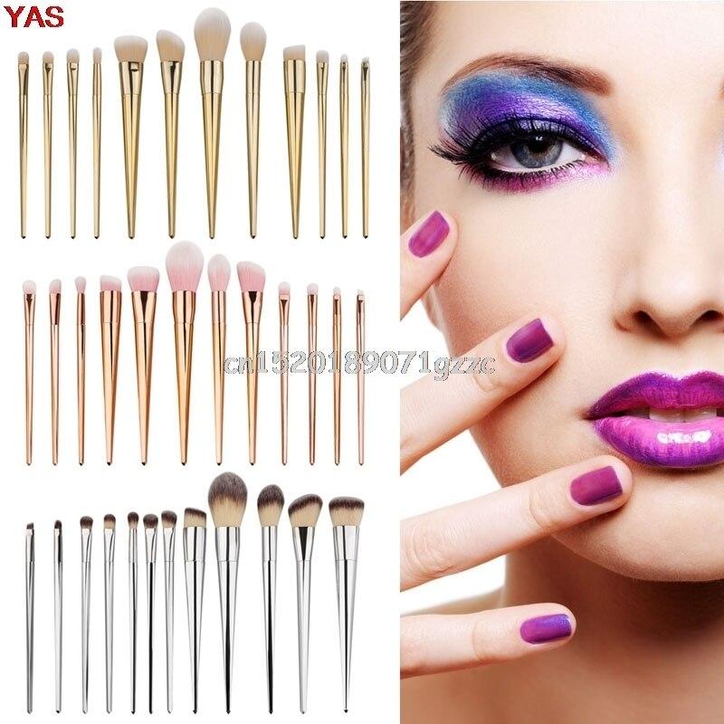 12pcs Pro Makeup Brushes Set Powder Foundation Eyeshadow Eyeliner Lip Brush Tool H027