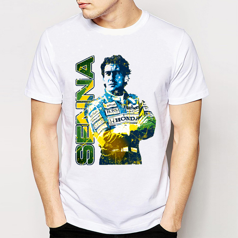 gildan-hepeep-brand-new-retro-unique-design-men's-t-shirt-car-fans-tops-cool-tees-my-favorite-driver-ayrton-font-b-senna-b-font