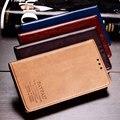 De lujo más nuevo cuero genuino cubierta de la carpeta del caso del soporte para Sony Xperia Z3 L55T bolso del teléfono cubierta con ranura para tarjeta del estilo del libro