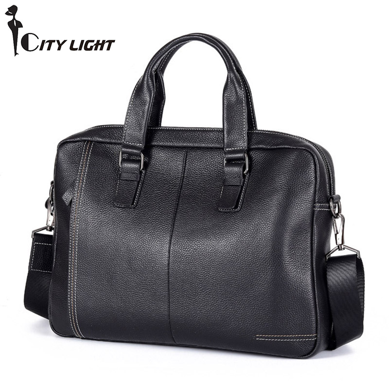 Unsex Genuine Leather Business Work Messenger Shoulder Bag Top Handle Bags Multi Compartment Practical Cross Body HandbagsUnsex Genuine Leather Business Work Messenger Shoulder Bag Top Handle Bags Multi Compartment Practical Cross Body Handbags