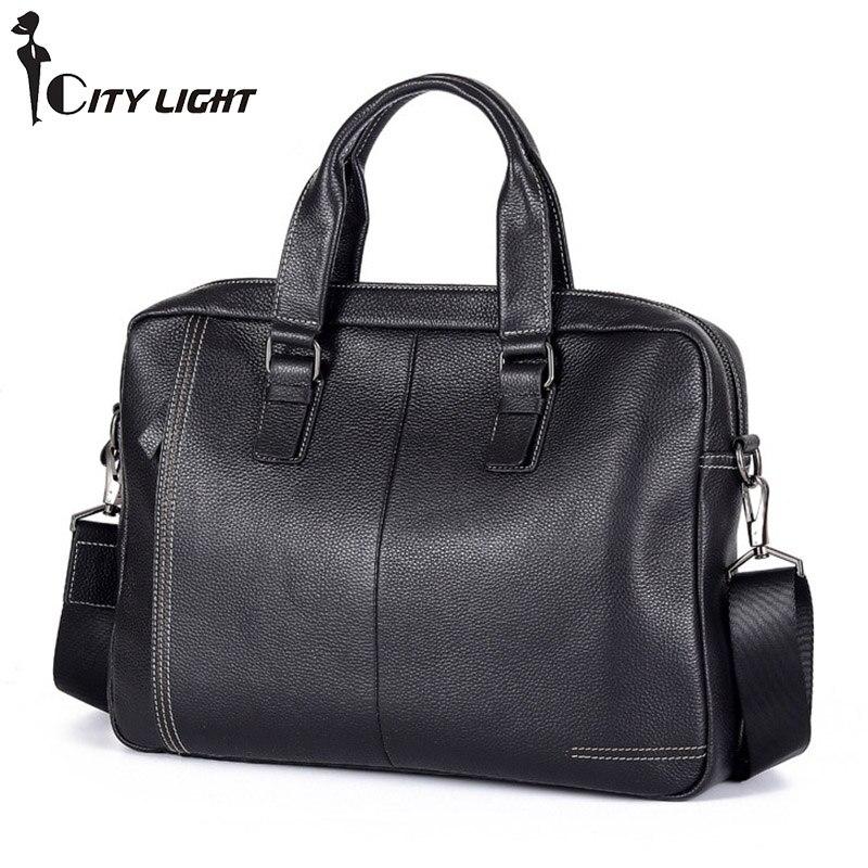 Unsex sac à bandoulière en cuir véritable pour le travail des affaires sac à bandoulière avec poignée supérieure sacs à main multi-compartiments pratiques à bandoulière
