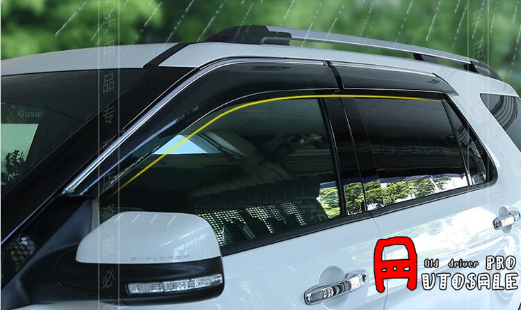 Window Visor Vent Shades Sun Rain Guard Deflector For Ford Explorer 2011 2012 2013 2014 2015 2016 Without Bright Strips for ford explorer sport 2013 2014 2015 2016 2017 abs plastic window visors awnings rain sun deflector visor guard vent cover