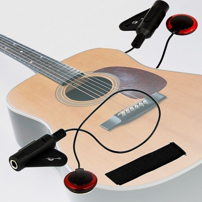 New Piezo Clip Sur Microphone Ramassage pour Guitare Acoustique Violon Mandoline Ukulélé