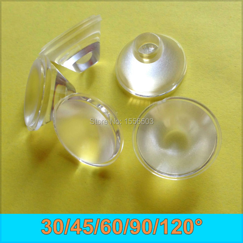 10Pcs 20mm 30 45 60 90 120 Angle LED 1W 3W Power Lens Frosted Atomized Foggy Blur Lenses For LED Lamp Reflector Collimator