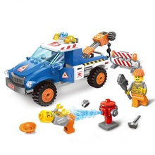 207pcs DIY  Road Wrecker  Blocks Early Educational Toy Minifigures Educational toys Children Christmas Gift