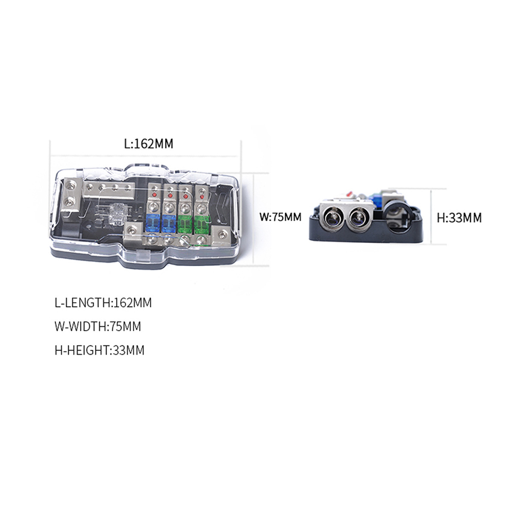 small resolution of led car audio stereo distribution block ground mini anl fuse block 4 way fuse block 30a 60a 80amp and battery distribution dy291 in fuses from automobiles