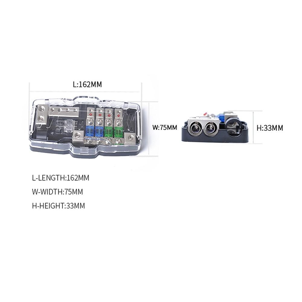 medium resolution of led car audio stereo distribution block ground mini anl fuse block 4 way fuse block 30a 60a 80amp and battery distribution dy291 in fuses from automobiles