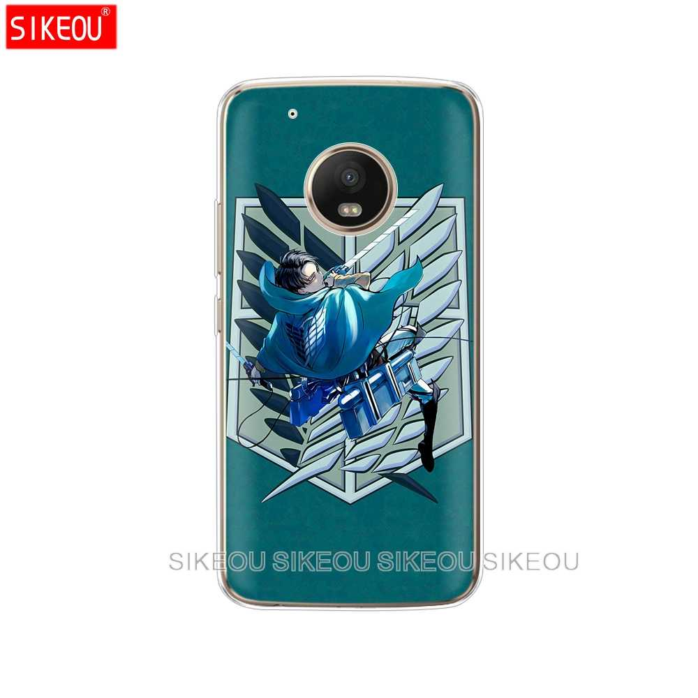 シリコンケース電話カバーモトローラモトg6 g5 jiayu g5にz2 z3プレイプラスx4 e4 e5 cアニメ日本に対する攻撃タイタン