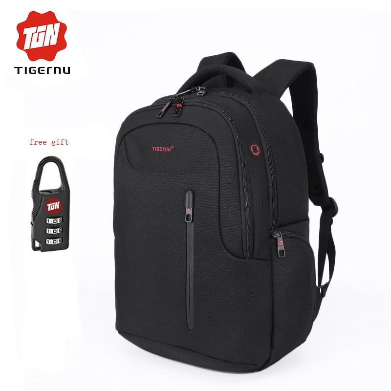 Tigernu Fashion Laptop font b Backpack b font Bag 15 6 inch School bag men travel