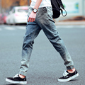 Mens Harem Jeans New 2017 Slim Skinny Denim Biker Pant Boyfriend Hiphop Trousers Bule Color Fashion Brand Jeans For Male