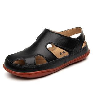 Image 3 - Sandalias antideslizantes de cuero genuino para niños y niñas, zapatos deportivos informales, cómodos, para la playa, para verano, 2020
