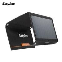 Easyacc 15 W powerbank solar cargador rápido cargador USB 2 puerto con SunPower panel solar energía para xiaomi iphone