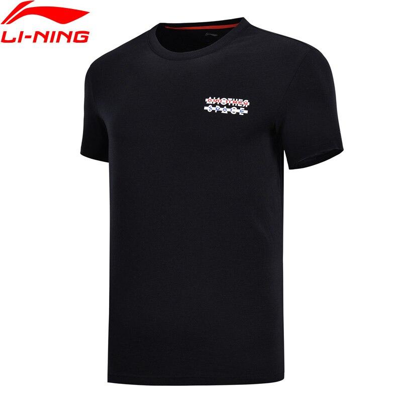 Li-Ning Hommes La Tendance T-Shirt 100% Coton Regular Fit Respirant Confort Doublure Fitness Sport Tee Tops AHSN155 MTS2773