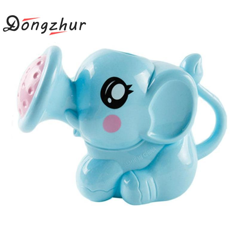 Dongzhur Bath Toys Elephant Sprinkler Children's Toy Bathroom Water Spraying Tool Plastic 2 Colors Elephant Baby Bath Shower Toy 12pcs lot cute mixed random animals soft rubber float squeeze sound squeaky bathing toys baby water spraying tool bath toy