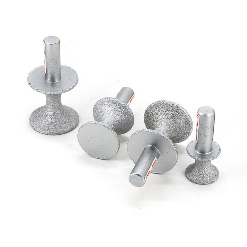 Brazed diamond semicircular stone trimming wheel for quartzite, artificial stone, granite, marble, ceramics, hard plastic GJ015