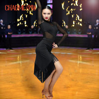 Adult Children Tassel Latin Dance Dress Women Girls Lady Cha Cha Rumba Samba Tango Ballroom Dance