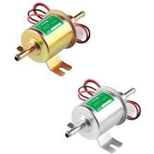 Universal 12V Electric Fuel Pump Low Pressure Bolt Fixing Wire Diesel Petrol For Car Carburetor Motorcycle ATV HEP-02A