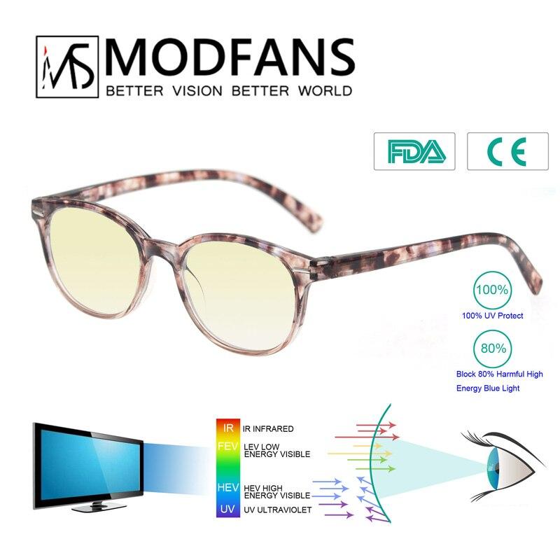 Anti Blue Light Filter Computer Gaming Glasses Men Women Round Anti Blue Ray Anti Radiation Blue Light Blocking Reading Glass
