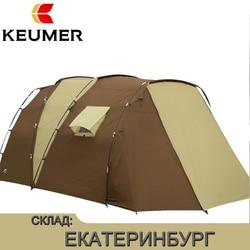 Impermeabile Open Tende Da Esterno di Lusso Poliestere 210 t Famiglia Tenda di Campeggio Esterna Per 5-8 Persone A Doppio Strato di Trasporto libero
