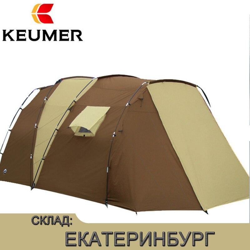 Tendas de Luxo Ao Ar Livre 210 t Poliéster Aberto à prova d' água Barraca de Acampamento Da Família Para 5-8 Pessoas Camada Dupla Frete grátis