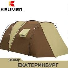 Водостойкие открытые палатки на открытом воздухе люкс 210 т полиэстер семейная походная палатка для 5-8 человек двойной слой Бесплатная доставка