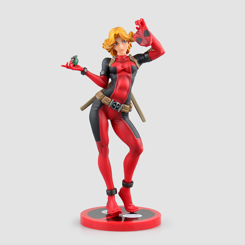 Crazy Toys X-men Lady Deadpool Bishoujo Statue Doll PVC Action Figure 23.5cm Collectible Model Toy for boys Best Christmas gift