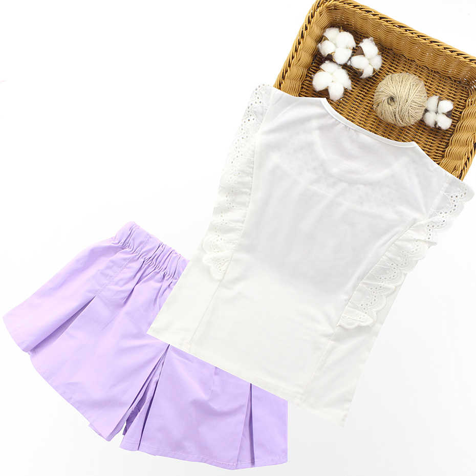 Летние комплекты для девочек кружевной жилет + шорты комплекты детской одежды из 2 предметов Одежда для девочек-подростков одежда для детей 10, 12, 14 лет