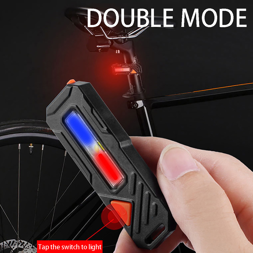 Waterproof USB Rechargeable Bicycle Tail <font><b>Light</b></font> Ultra bright 6 Lighting Modes <font><b>Red</b></font>/<font><b>White</b></font> LED <font><b>light</b></font> <font><b>Bike</b></font> Safety flash lamp image