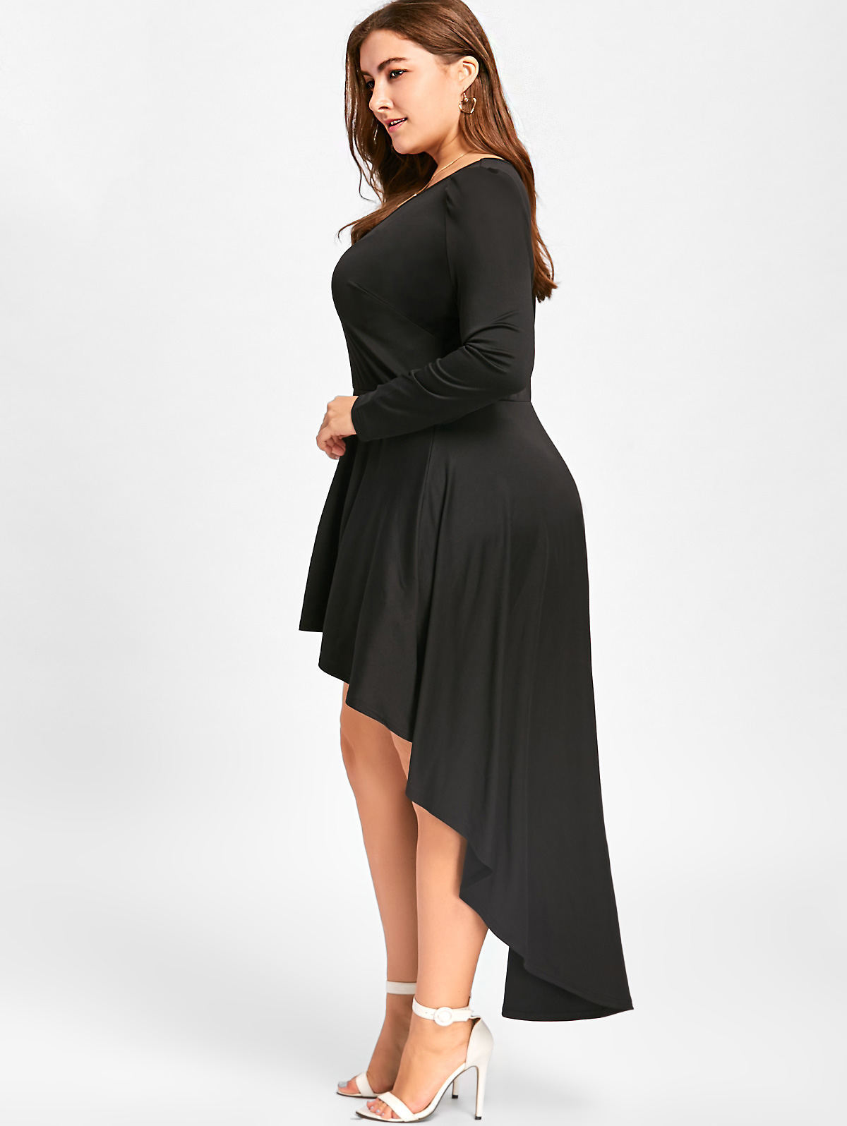 4f7c07218e7 Dresses Length: Ankle-Length Neckline: V-Neck Sleeve Length: Long Sleeves  Pattern Type: Solid Color With Belt: No Season: Fall,Spring Weight: 0.4500kg