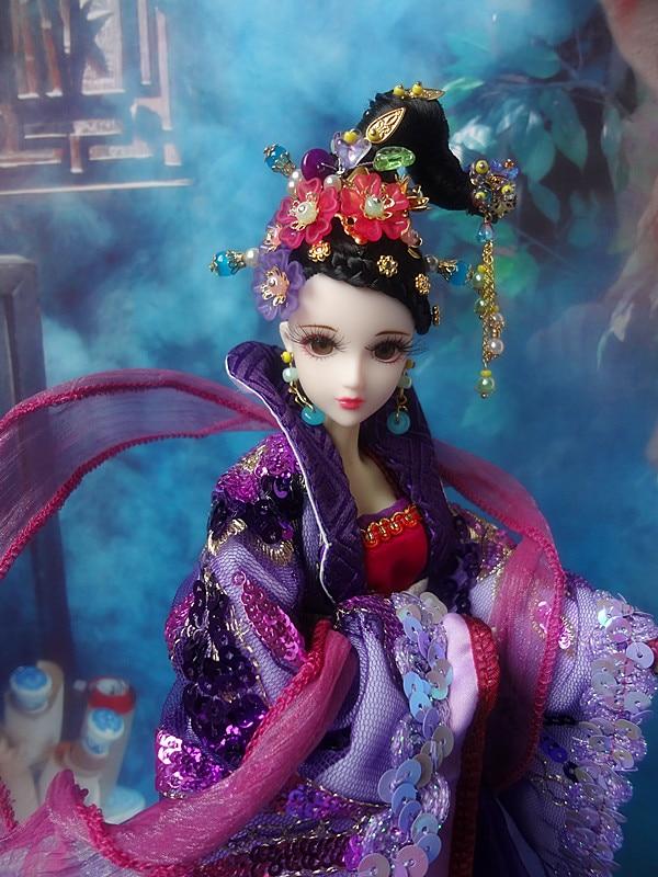 Gratis Shopping 32cm high-end kinesisk Qing Dynasty Princess Dolls - Dockor och tillbehör - Foto 3